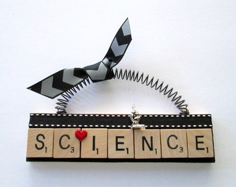 Science Love Science Scrabble Tile Ornament