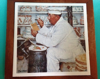 Norman Rockwell Kitchen Tile