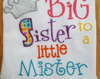 Custom big sister shirt