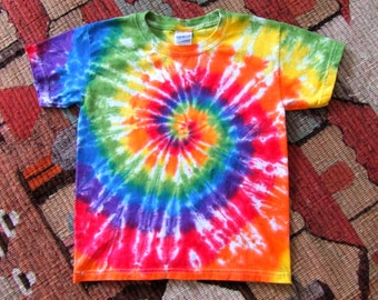 Adult Size Rainbow Swirl Tie Dye T-shirt - Made To Order -  S, M, L, XL, 2XL