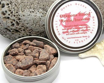 Dragon's Blood for Incense, Meditation, or Ritual, Negativity, Incense, Resin, Dragons Blood, Love, Luck, Smudging