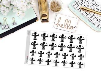 GIRLS RUN the WORLD Paper Planner Stickers