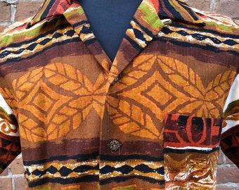 Vintage Kamehameha Mens Hawaiian Shirt