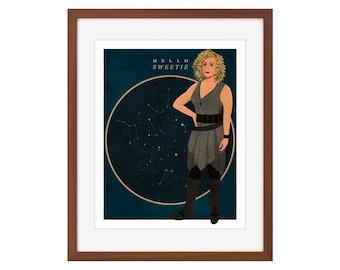 """Doctor Who River Song print - """"Hello Sweetie"""""""