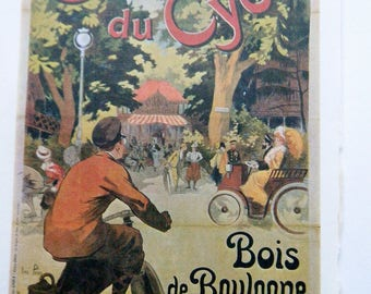 Vintage Bicycle Poster Chalet du Ctcle French Poster Size Book Plate