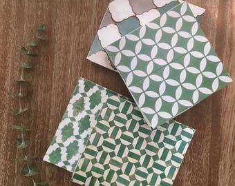 Deirdre Mint Coasters- set of 4