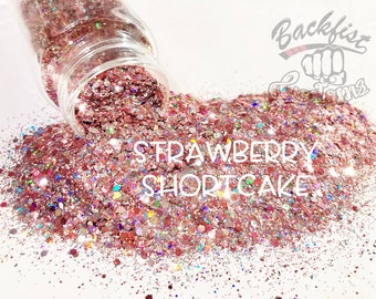 STRAWBERRY SHORTCAKE || Opaque Chunky Glitter Mix, Solvent Resistant
