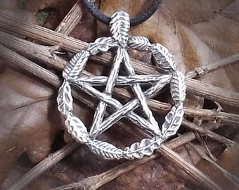 Pewter, Woodland Pentacle Pendant