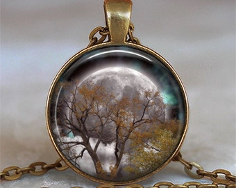 Autumn Equinox pendant, Full Moon pendant Pagan pendant Wiccan jewelry Mabon necklace Wiccan pendant Mabon key chain key ring