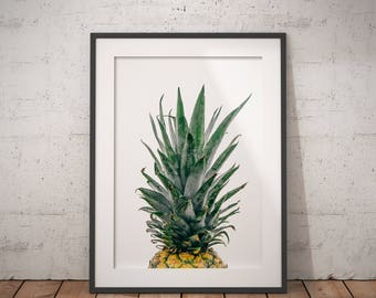 Pineapple Print, Pineapple Wall Art, Tropical Wall Art, Tropical Print, Kitchen Wall Art, Printable Pineapple Wall Art, Pineapple Poster