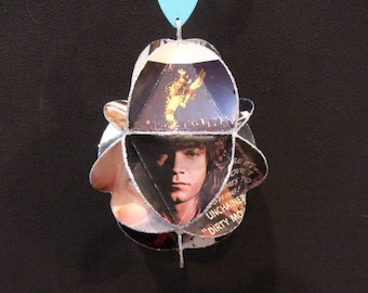 Van Halen Album Cover Ornament Made With Vintage Record Jackets