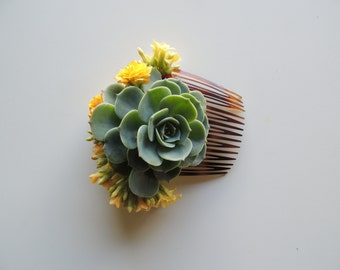 Bridesmaids Hair accessories, Succulent Hair Comb