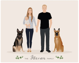 Additional Pet for Custom Family Portrait