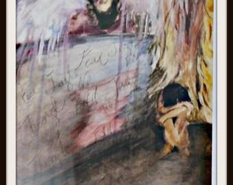 Digital Art Print. From an Original mixed media painting
