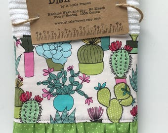 Kitchen Dish Towel / Kitchen Bar Mop Towel / Cactus Kitchen Towel / Spring  Kitchen