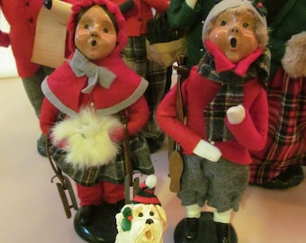 DOLL Sale 50% Off 1988 Christmas Caroler Children Girl Byers Choice Dickens Christmas Carolers Vintage Ice Skates Byers