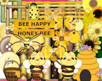DIGITAL SCRAP KIT - Honey Bee Scrap Kit