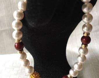 Swarovski Crystal Pearl Stretch Bracelet