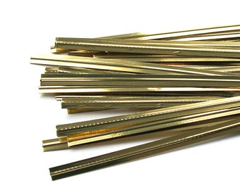 50 Metallic Gold Twist Ties