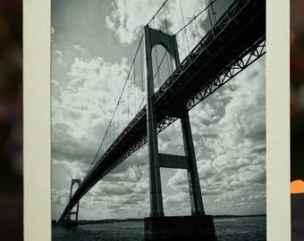 Newport Bridge Photo Greeting Card