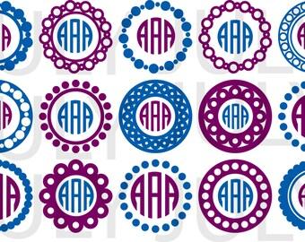 Circle Monogram Frame svg, Monogram SVG Frames, frame svg, dxf, ai, eps, png, Circle Monogram svg, monogram svg files, svg files