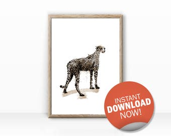 leopard animal illustration, direct download, fine arts