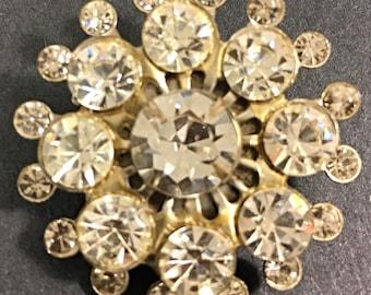 sunburst brooch vintage brooch rhinestone brooch midcentury brooch vintage jewelry rhinestone pin wedding brooch bouquet brooch something ol