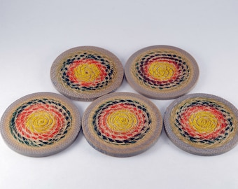 Wooden Handturned Coasters made in Maple Wood