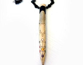 Binah Ritual Necklace - pagan goddess pendant necklace sepiroth