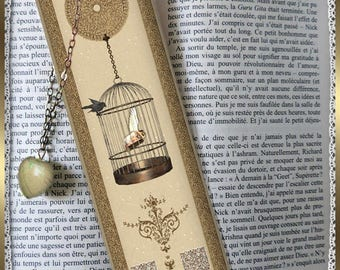 """Laminated bookmarks """"Golden cage"""""""