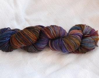handdyed Yarn, 100g/ 3,5oz , colour Camouflage