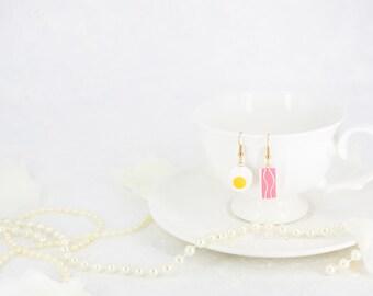 Bacon & Egg Earrings