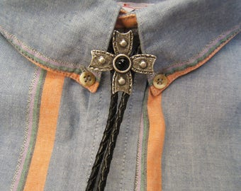 Gift For Mom, Gift For Dad, Christian, Religious Cross Bolo Tie, Bolo Ties, Bolo Ties For Men, Bolos For Women, Silver Bolo Ties, #80155-1