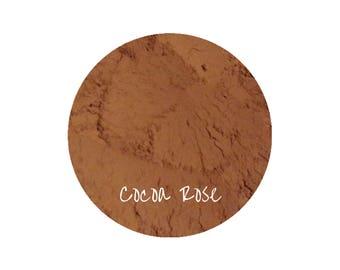 Mineral Makeup Cocoa Rose Blush | Natural Makeup | Rose Blush | Chocolate Makeup | Natural Organic Cosmetics | Vegan Makeup | Pink Makeup