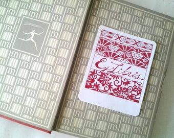 Bookplates, Floral & Fans Bookplate Set, set of bookplates