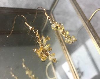 Cluster Crystal Drop Earrings