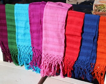 100%Cotton Mexican Scarf (Rebozo) -All Natural Fiber-Baby Carier-Sifling for Childbirth-ColorfulLabor-Doula-Mexican-Wrap-Baby-Wedding-Fiesta