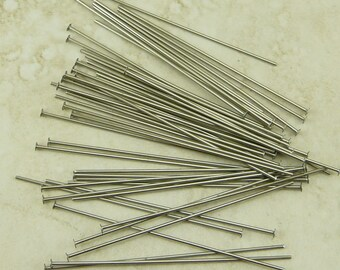 50 TierraCast 2 inch 21 gauge Nickel Headpins Head Pins > I ship Internationally - 0028