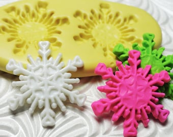 SNOWFLAKE Mold Silicone Rubber Push Mold Flexible Mould for Resin Wax Fondant Clay Fimo Ice 6824