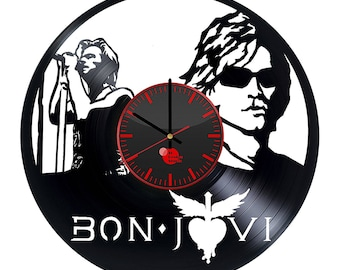 Bon Jovi Band Vinyl Record Wall Clock