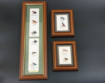 Wet Fly Trout flies framed and named