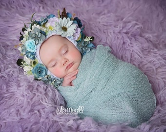 Aquamarine RTS Stretchy Soft Newborn Knit Wraps 80 colors to choose from, photography prop newborn prop wrap