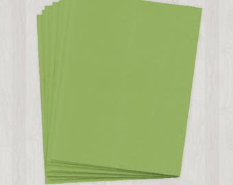 100 Sheets of Cover Stock - Green - DIY Invitations - Paper for Weddings & Other Events