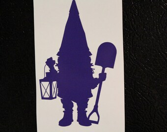 Gnome Decal Any Size Any Colors