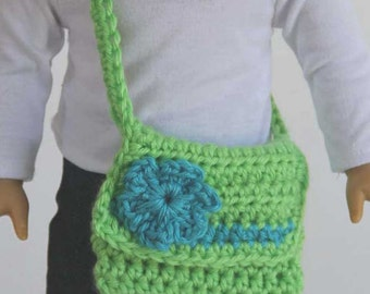 "On The Go 18"" Doll Crochet Messenger Bags Pattern - PDF"