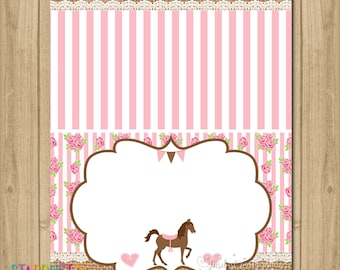 Horse Tent Cards, Horse Food Labels, Saddle Up Birthday, Horse Buffet Cards, Saddle Up Party