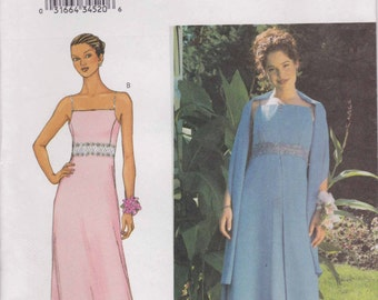 Formal Dress Pattern Prom Dress Evening Gown Pattern Long Dress  Size 8 - 12  Butterick 3369