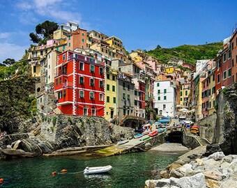 Italy - Cinque Terre - View Riomaggiore - SKU 0114