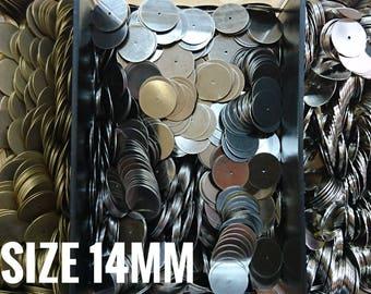 180 pcs, 14mm brass sequin, thin metal disc