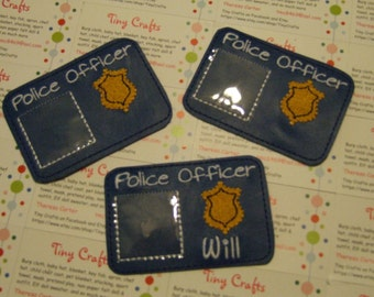 Pretend Police Officer License ID Creative Imagination Educational Play Pretend Play Party Favor